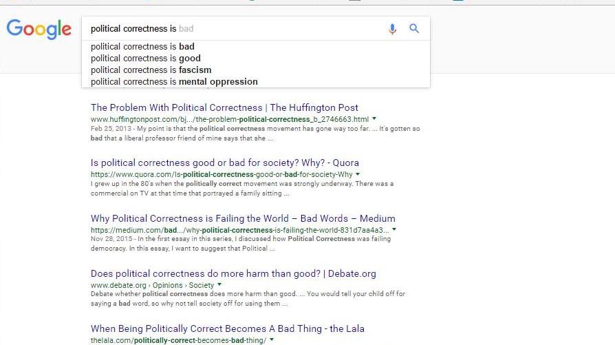 classwork essay on political correctness Heus - ch2 notes+essay wed,obj thu ac - prj due wed(-fri) law - finish classwork earhart essay king political correctness has gone too far essay.