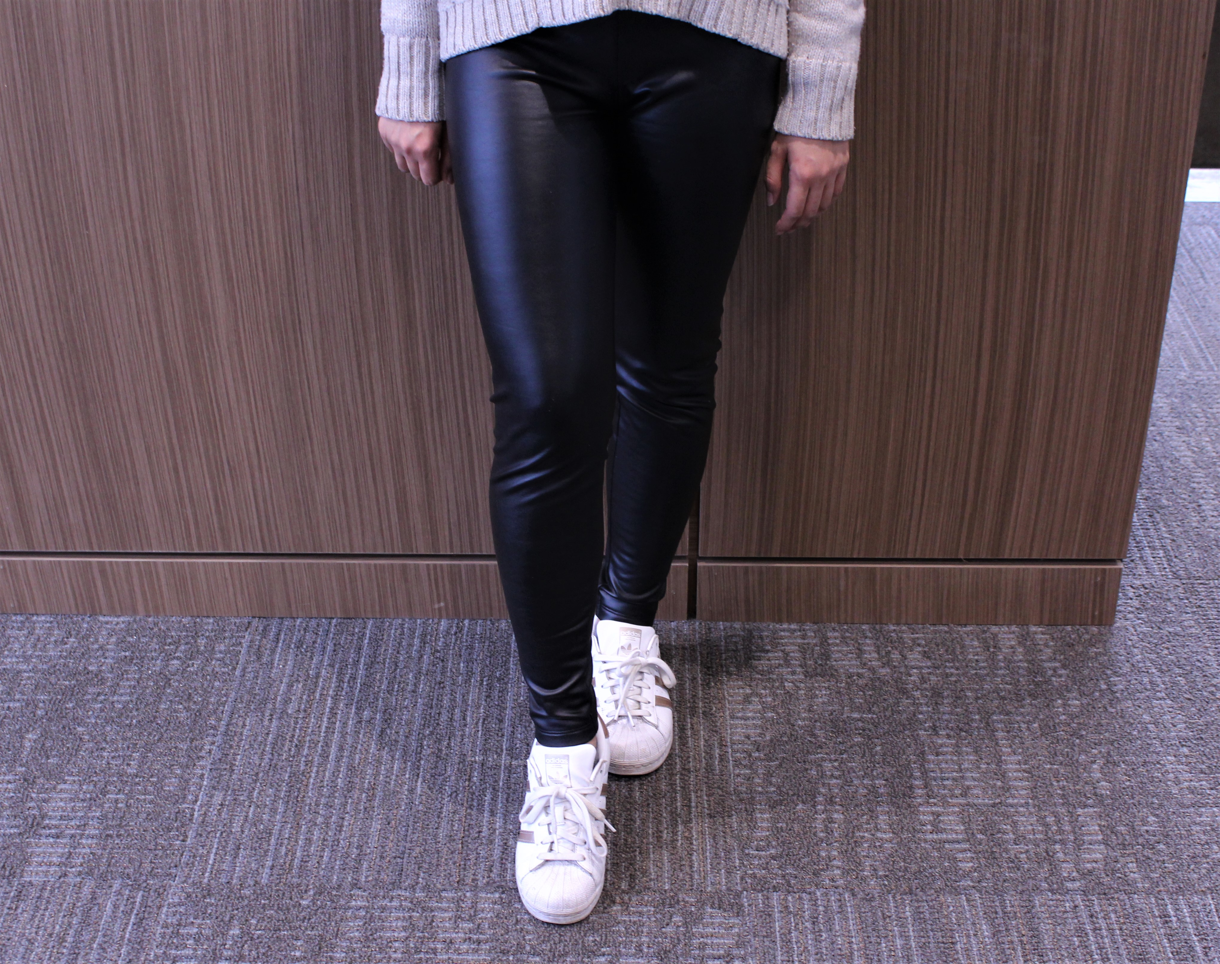 a6ca1914347a1 Leather leggings  dress them up or dress them down.